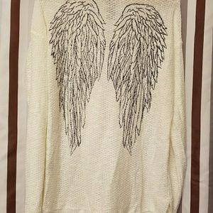 Hot topic angel wing tunic sweater xl